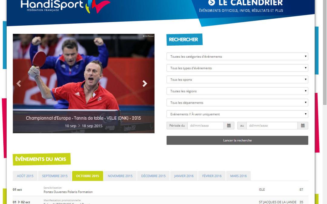 Le calendrier de tous les événements handisport en France (tous les sports)