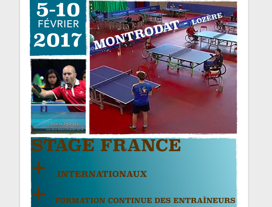 Effectifs du 1er stage National 2017