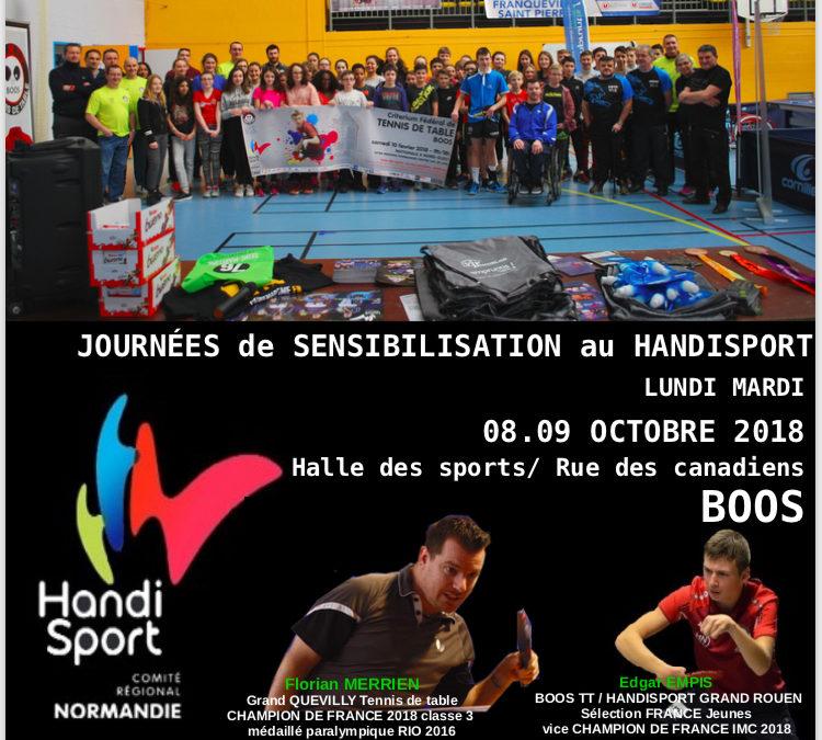 Promotion du TT Handisport à Boos – Handisport Grand Rouen