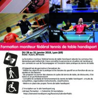 Formation Moniteur Fédéral Tennis de Table Handisport