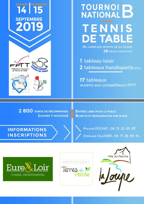 Tournoi FFTT avec tableau Handisport