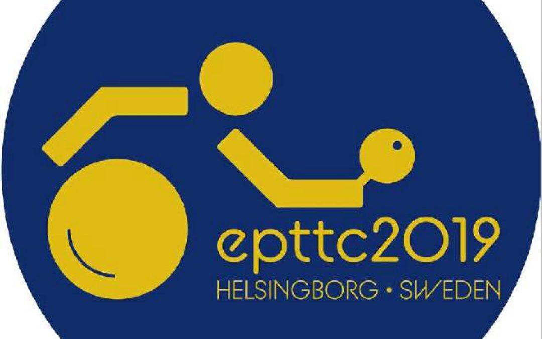 Championnats d'Europe 2019 – 16 au 21 septembre 19 à Helsingborg – Suède