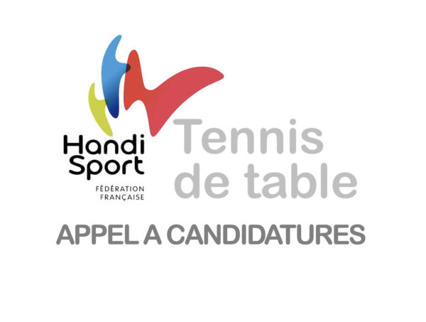 Candidature compétition TT Handisport 2021-2022