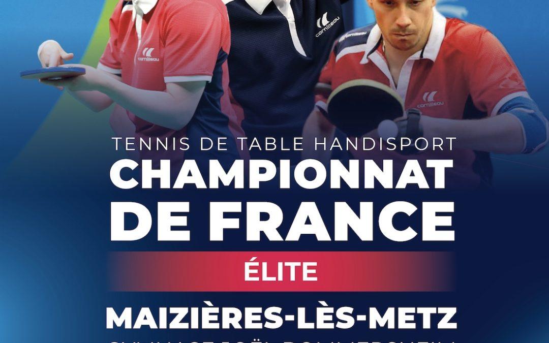 Important – Championnat de France Elite TT Handisport