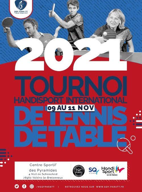 Tournoi International en France ! le SQY Para Open du 9 au 11 novembre 2021